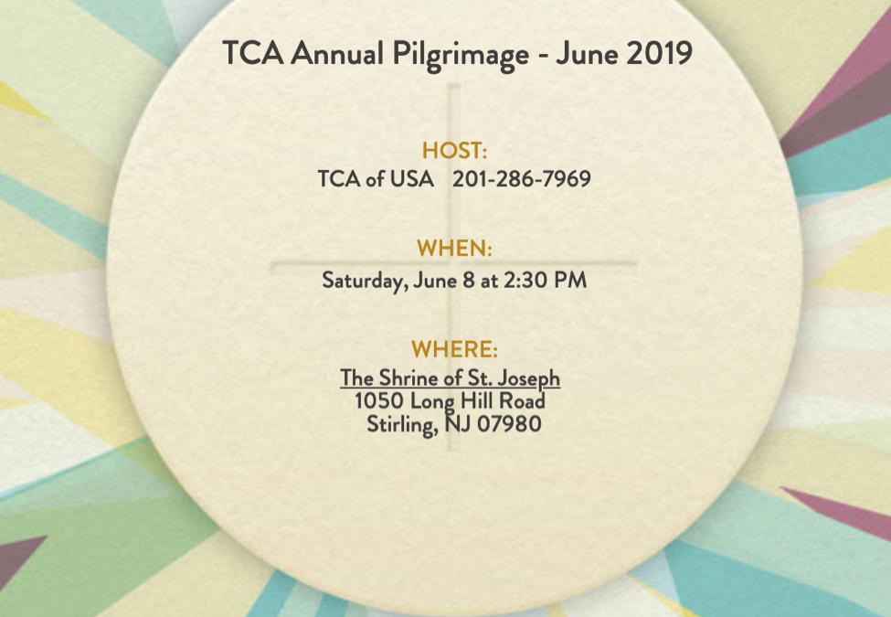 TCA Annual Pilgrimage