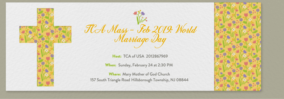 TCA Mass: World Marriage Day